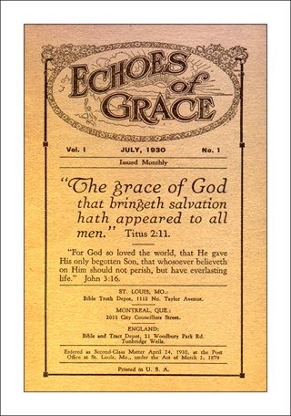 The first issue of Echoes of Grace