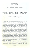 Review of a Series of Articles Entitled, The Epic of Man by Paul Wilson