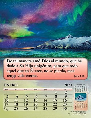Spanish Calendario de Gran Gozo, 12 Páginas (#2151)   Bible Truth
