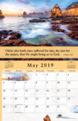 2019 The Gospel of Peace Scenic Appointment Calendar: With Monthly Gospel Verses