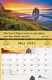 2021 The Gospel of Peace Scenic Appointment Calendar: With Monthly Gospel Verses