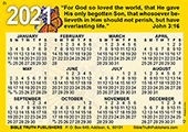 2021 English Gospel Pocket (Wallet) Calendar