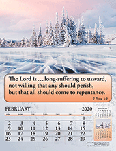 2020 English Joyful News Gospel Calendar