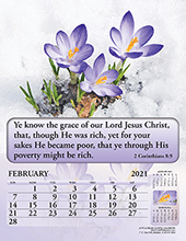 2021 English Joyful News Gospel Calendar