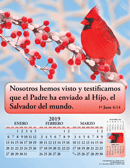 2019 Spanish Joyful News Gospel Calendar