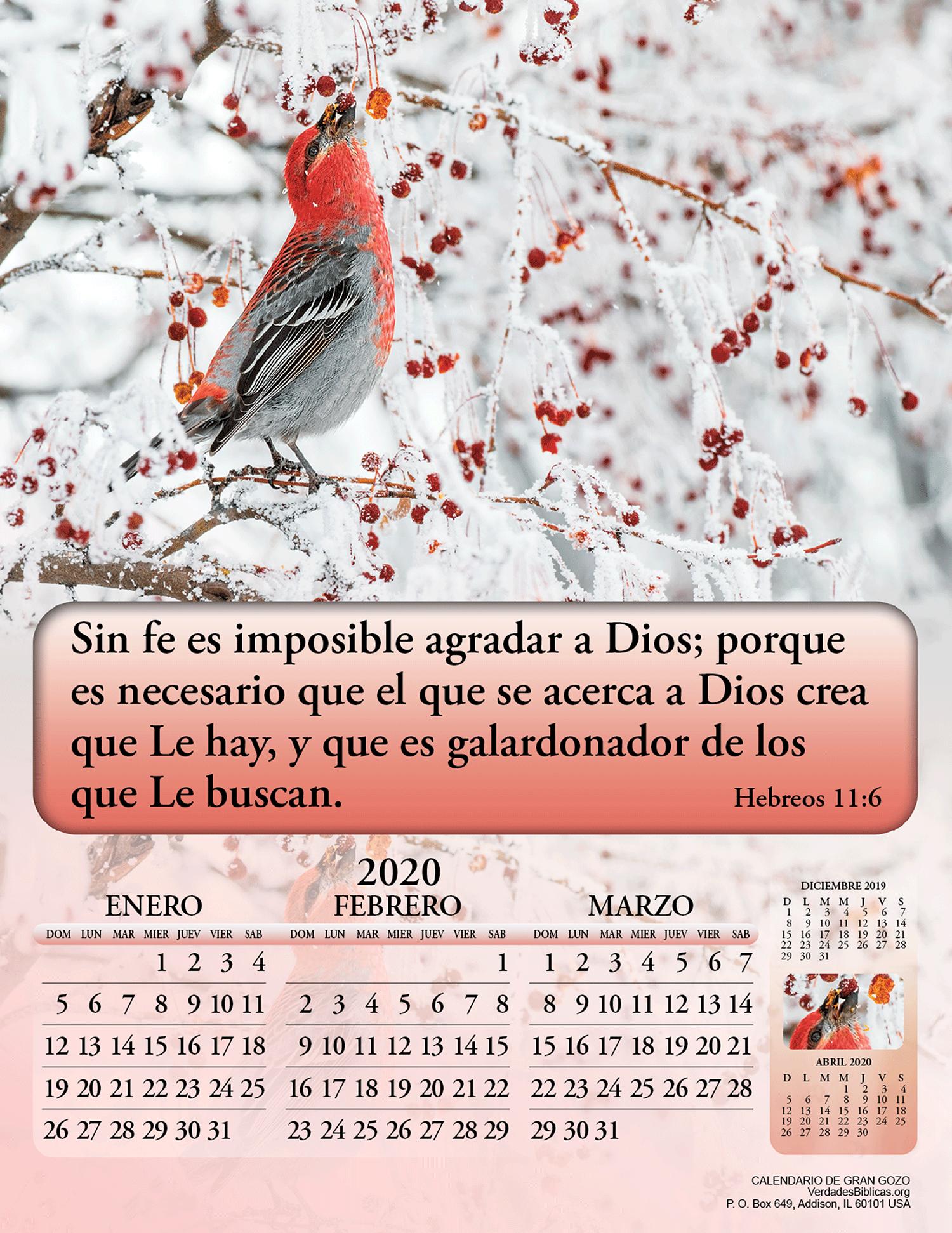 Calendario D.Spanish Calendario De Gran Gozo 4 Paginas 3000 Bible