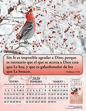 Mini Calendario 2020 Png.Spanish Calendario De Gran Gozo 4 Paginas 3000 Bible