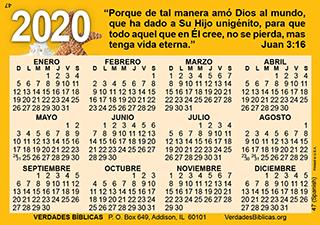 Mini Calendario 2020 Png.Spanish Calendario De Bolsillo Tarjeta Laminada A Todo