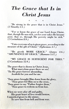 The Grace That Is in Christ Jesus by Lois Beckwith