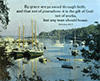 "Large 28"" x 22"" Scenic Scripture Poster: (Summer Harbor) By grace are ye . . . . Ephesians 2:8,9 by BTP"