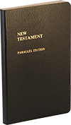 Parallel New Testament: Abbreviated Notes Edition by King James Version/J.N. Darby