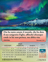 2021 Italian Joyful News Gospel Calendar