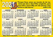 2021 Portuguese Gospel Pocket (Wallet) Calendar