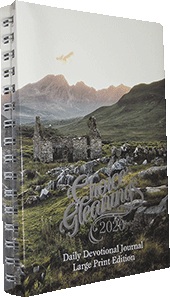 2020 Choice Gleanings Calendar: Large Print Daily Devotional Journal — Desk/Personal Size Planner