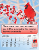 2019 French Joyful News Gospel Calendar