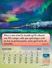 2021 French Joyful News Gospel Calendar