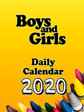 2020 Boys and Girls Daily Calendar: Block Only