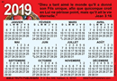2019 French Calendrier de Poche: Gospel Pocket (Wallet) Calendar