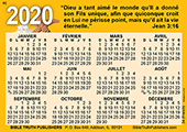 2020 French Calendrier de Poche: Gospel Pocket (Wallet) Calendar
