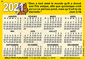 2021 French Calendrier de Poche: Gospel Pocket (Wallet) Calendar