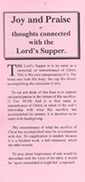 Joy and Praise: Thoughts Connected With the Lord's Supper by John Gifford Bellett