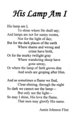 His Lamp Am I by Annie Johnson Flint