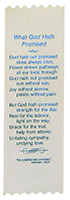 Deluxe Ribbon Bookmark: What God Hath Promised, Poetry, A.J. Flint by Annie Johnson Flint