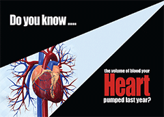 Do You Know: How Much Blood Your Heart Pumped Last Year?