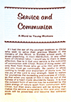 Service and Communion by William Barker