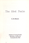 The Twenty-Third Psalm by Clifford Henry Brown