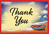 Thank You Tip Card: Rowboat