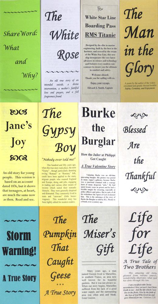 Large Print Gospel Brochures Sample Pack, Various Authors