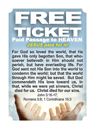 photograph relating to Free Printable Gospel Tracts referred to as Gospel Tract, Absolutely free Ticket: Scorching Ticket (#41870) - Bible Fact