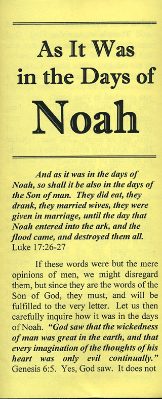 As It Was in the Days of Noah by Charles Stanley