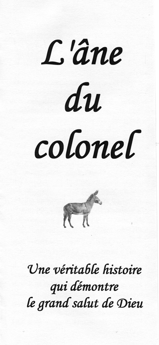 L'âne du colonel: The Colonel's Donkey by John A. Kaiser