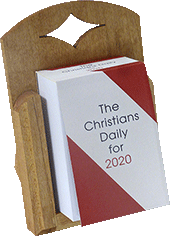 2020 Christian's Daily Calendar Cradle: Block Base Only