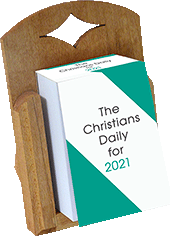 2021 Christian's Daily Calendar Cradle: Block Base Only by Howard Dodds