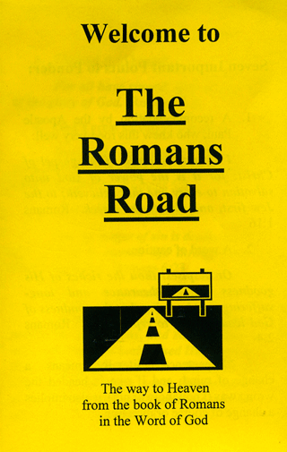 image relating to Romans Road Printable named Gospel Tract, The Romans Highway: Welcome (#42116) - Bible