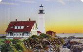 Deluxe Thank You Tip Card: Portland Head (Cape Elizabeth) Lighthouse Photo