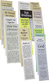 Ministry Bookmarks Samples Set by Various Authors