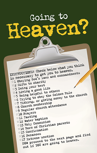 Going to Heaven? A Checklist