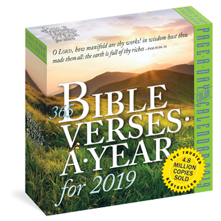 2019 365 Bible Verses-A-Year: Page-A-Day Daily Block Calendar by Workman Publishing, King James Version