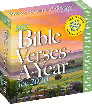 2020 365 Bible Verses-A-Year: Page-A-Day Daily Block Calendar by Workman Publishing, King James Version