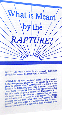 What Is Meant by the Rapture? by John D. McNeil