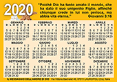 2020 Italian Gospel Pocket (Wallet) Calendar