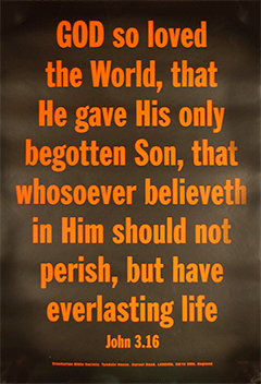 Scripture Poster God So Loved The World Tbs 6349 Bible Truth
