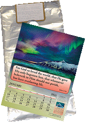 2021 Standard Calendar Doorknob Bag: For Gospel of Peace and Joyful News Gospel Calendars by Associated Bag