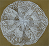 White Gathered Lace Clip-Circlet Cap by Northwestern Lace