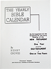 The Yearly Bible Calendar by Henry Groves