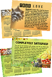 2020 Custom Gospel Pocket (Wallet) Calendar: Personalized Edition, per Specified Imprint